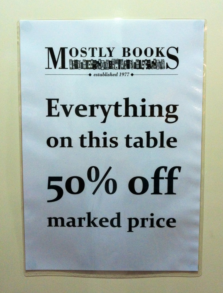 Sale Table Sign
