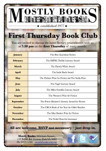 First Thursday Book Club Poster JPG