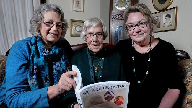 Margaret Young with her daughters Marnie Watts and Cath McGee in the Eastern Courier Messenger.